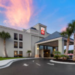exterior of Best Western Plus Myrtle Beach@Intracoastal at dusk