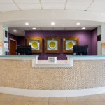 front desk in lobby