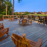 intracoastal deck with furniture at sunrise at Best Western Plus Myrtle Beach@Intracoastal